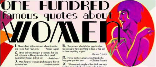 One Houndred Quotes about Women