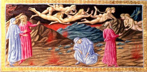 Priamo della Quercia, Punishment of the Lustful; Paolo and Francesca (1444-1452)