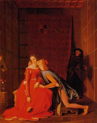 Jean August-Dominique Ingres, 'Paolo e Francesca', 1819, olio su tela; Los Angeles, County Museum of art