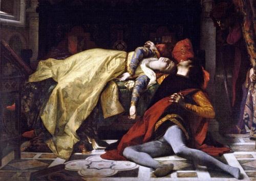 The death of Francesca da Rimini and Paolo Malatesta by Alexandre Cabanel (1870).