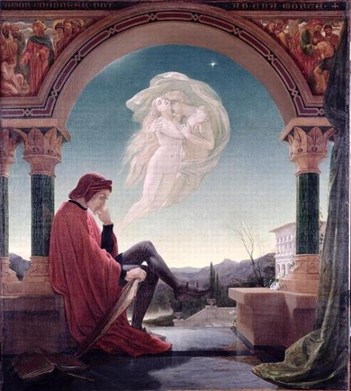 "Sir Joseph Noel Paton (Scottish, 1821-1900), ""Dante Meditating the Episode of Francesca da Rimini and Paolo Malatesta"""