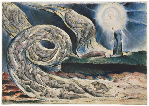 The Circle of the Lustful by William Blake (1757–1827)