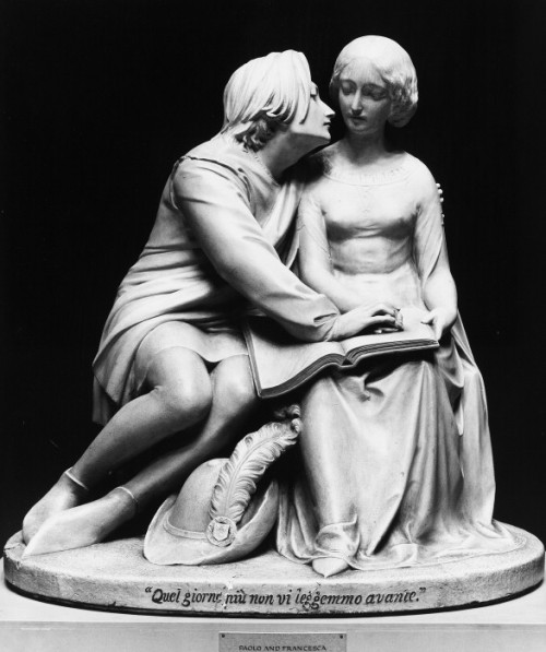 Paolo and Francesca (1852) by Alexander Munro (1825-1871)